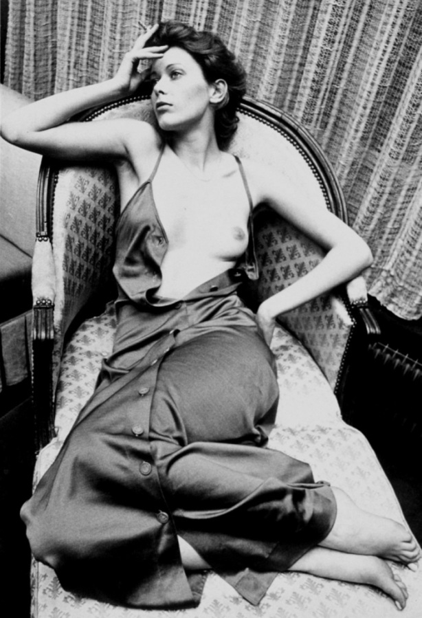 sylvia kristel tits black and white