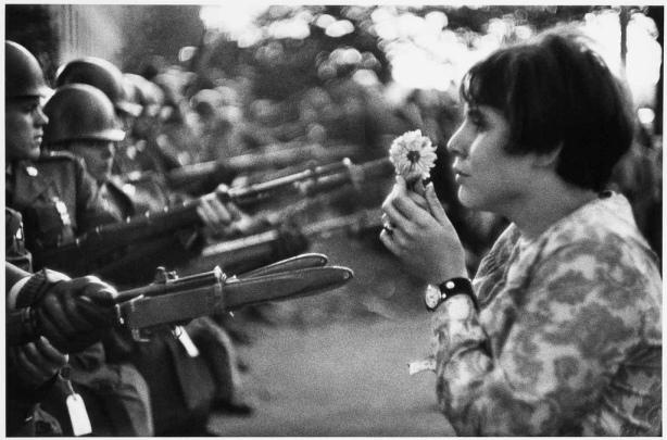 Flower Child, Pentagon Protest; Marc Riboud, October 21, 1967
