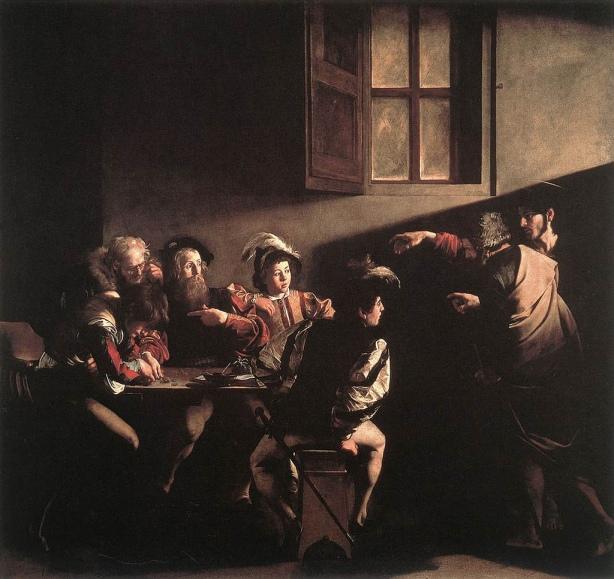 The Calling of Saint Matthew, Caravaggio, 1599