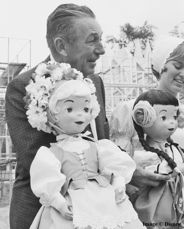 Walt Disney at it's a small world