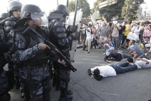APTOPIX Brazil Confed Cup Protest