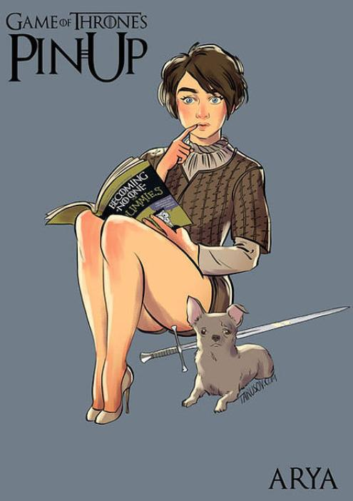 Andrew-Tarusov-Game-of-Thrones-Pin-Ups-Arya