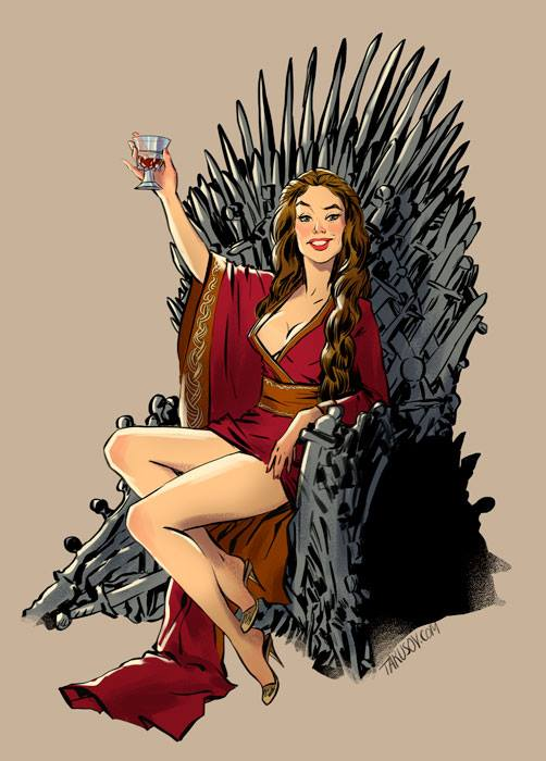Andrew-Tarusov-Game-of-Thrones-Pin-Ups-Cersei